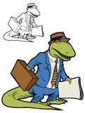 Capo del dinosauro Immagine Stock
