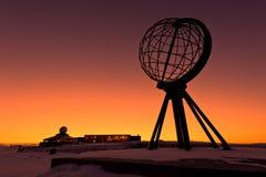 Capo del nord, al punto più northernmost di Europa Immagine Stock Libera da Diritti