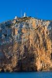 Capo di Cabo de San Antonio in Javea Denia alla Spagna Fotografia Stock Libera da Diritti