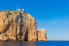 Capo di Cabo de San Antonio in Javea Denia alla Spagna Immagine Stock