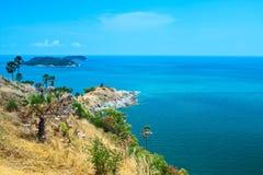 Capo di PhromThep, provincia di PhuKet, Tailandia Fotografia Stock