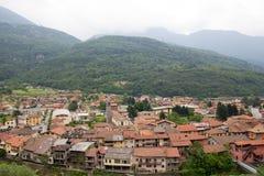 Capo Di Ponte, Włochy Alps Zdjęcia Royalty Free
