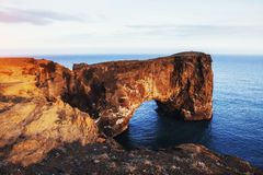Capo Dyrholaey all'Islanda del sud Altitudine 120 m. Immagini Stock