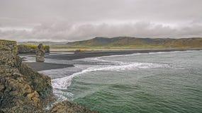 Capo Dyrholaey l'islanda fotografie stock