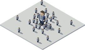 Capo e cloni del pixel royalty illustrazione gratis