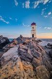 Capo Ferro lighthouse in Sardinia, Italy. Capo Ferro cape lighthouse in Sardinia, Italy royalty free stock photo