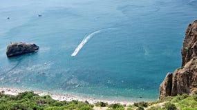 Capo Fiolent sulla costa di Mar Nero Fotografia Stock