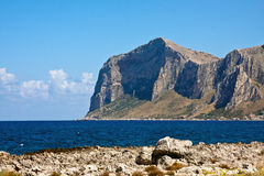 Capo Gallo. Natural reserve of Capo Gallo, Palermo, Sicily royalty free stock images