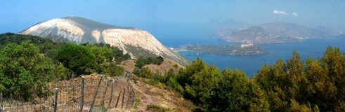 Capo Grilo - Vulcano island. Panorama from capo Grillo - Vulcanno island stock photos