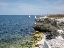 Capo Hersones sulla costa di Mar Nero Immagine Stock