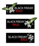 Capo Jasmine Flowers sull'insegna di vendita di Black Friday Fotografia Stock Libera da Diritti
