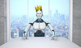 Capo King del robot illustrazione di stock