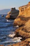 Capo Kiwanda al tramonto, litorale dell'Oregon immagine stock