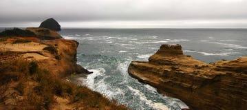 Capo Kiwanda - Pacifico, città Oregon Fotografia Stock
