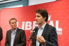 Capo liberale Justin Trudeau immagini stock
