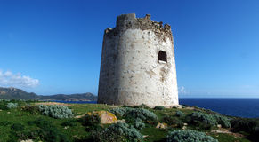 Capo Malfatano's Tower Royalty Free Stock Image