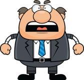 Capo Man Angry del fumetto Fotografia Stock Libera da Diritti