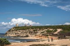 Capo Mannu falezy, Sardinia Zdjęcia Royalty Free