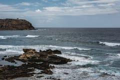 Capo Mannu falezy, Sardinia Fotografia Stock