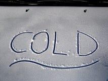 Capo motor frío del coche Imagen de archivo