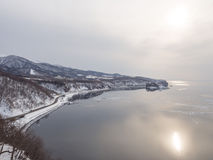 Capo Puyuni, città di Utoro, Shiretoko, Hokkaido, Giappone Fotografie Stock