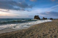 Capo Rasocolmo, Italie Photographie stock