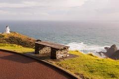 Capo Reinga del faro sull'isola del nord della Nuova Zelanda Immagine Stock