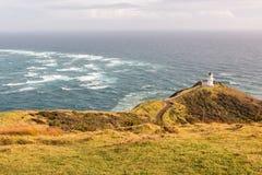 Capo Reinga del faro sull'isola del nord della Nuova Zelanda Fotografia Stock Libera da Diritti