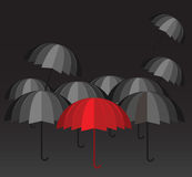 Capo rosso dell'ombrello Immagine Stock Libera da Diritti
