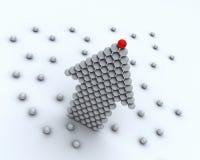 Capo rosso della palla del gruppo di affari Immagine Stock