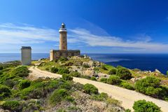 Capo Sandalo - lighthouse Stock Images