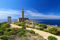 Capo Sandalo - phare images stock