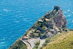 Capo Sant'Alessio Sicily Fotografia Stock Libera da Diritti