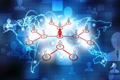 Capo Ship Concept, concetto della rete di affari rappresentazione 3d Immagini Stock