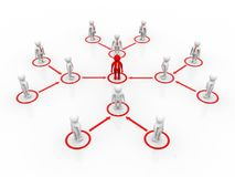 Capo Ship Concept, concetto della rete di affari rappresentazione 3d Immagine Stock Libera da Diritti