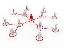Capo Ship Concept, concetto della rete di affari rappresentazione 3d Illustrazione Vettoriale