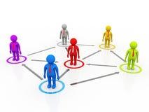 Capo Ship Concept, concetto della rete di affari rappresentazione 3d royalty illustrazione gratis