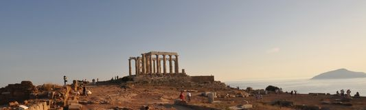 Capo Sounion in Grecia Fotografie Stock