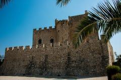 Capo Spulico, château de Federician, capo Spulico de Roseto photo libre de droits