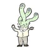 capo straniero del mostro del fumetto Fotografia Stock