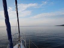 Capo sul fiume Dnipro Fotografia Stock Libera da Diritti