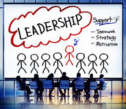 Capo Team Partnership Concept di direzione del cavo royalty illustrazione gratis
