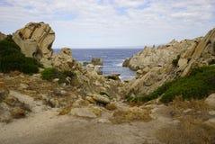 Capo Tesla w Sardinia obrazy royalty free