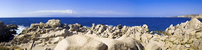 Capo Testa. Is a great coast of northern sardinia Royalty Free Stock Images