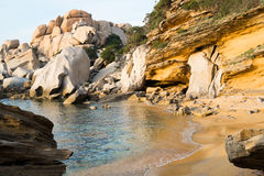 Capo Testa beach Stock Photos