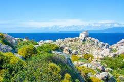 Capo Testa - Beautiful coast of sardinia Stock Images