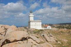Capo Testa. Lighthouse of capo testa, italy Royalty Free Stock Photo