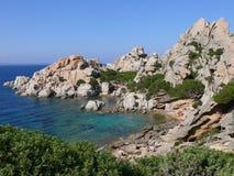 Capo Testa. Little bay in Sardinian peninsula Capo Testa Stock Images