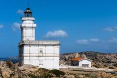CAPO TESTA, SARDINIA/ITALY - MAJ 21: Latarnia morska przy Capo Tes Fotografia Royalty Free
