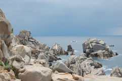 Capo Testa, Sardinia. Rock Island Carpo Testa, Italy Stock Photos